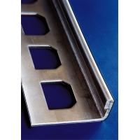 MDK-LINE | ULL | ukončovací | L | NEREZ | brushed=kartáč | H=3mm | D=2,5m | t=0,8mm