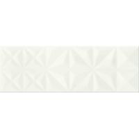 MAGIC white glossy prism | decor |  25x75 | 01S