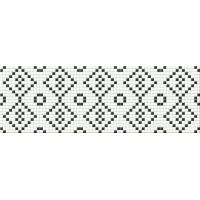 MAGIC black & white mosaic | decor | 25x75 | 01S