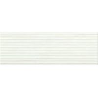 ELEGANT STRIPES white glossy structured | decor | 25x75 | 01S