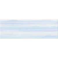ELEGANT STRIPES blue glossy structured | decor | 25x75 | 01S