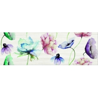 ELEGANT STRIPES flower glossy | decor | 25x75 | 01S